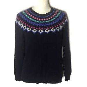 Vineyardvines nordic lambswool chevron sweater